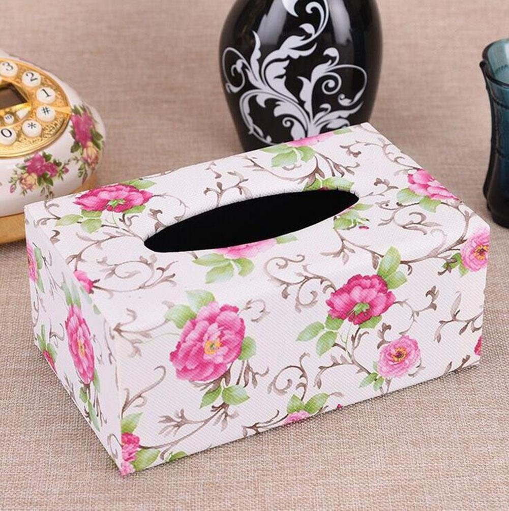 Leather Facial Tissue Box Home Office Car Decor , H , 20128.5