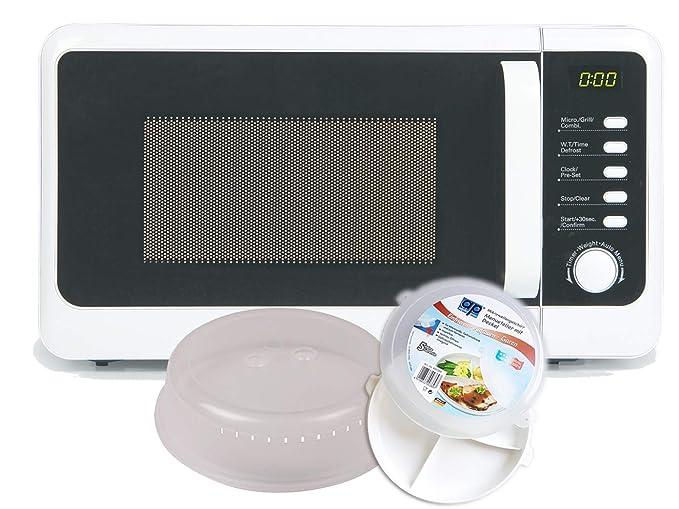 Nevera Microondas con grill 800/1000 W en blanco, incluye 5 ...