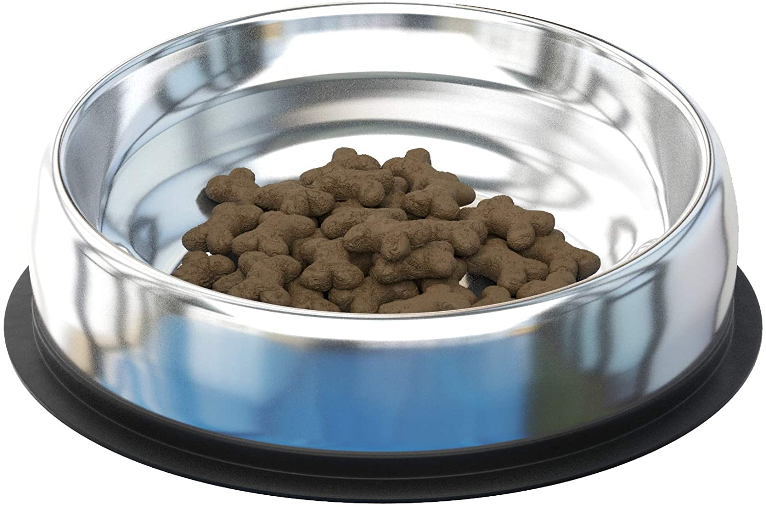 Enhanced Pet Bowl - Stainless Steel Bowl for Flat-Faced Dog & Cat Breeds. Vet Approved | Non-Slip Slanted/Tilted Pet Bowl with Special Ridge. No Mess. Bulldogs, Pugs, Boxer, Cats, and All Breeds