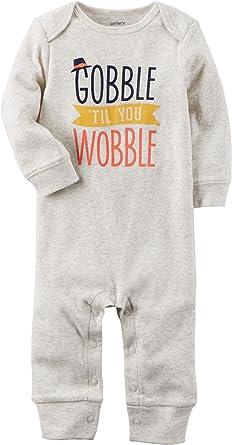 df4784e6478b Amazon.com  Carter s Baby Gobble  Til You Wobble Jumpsuit  Clothing
