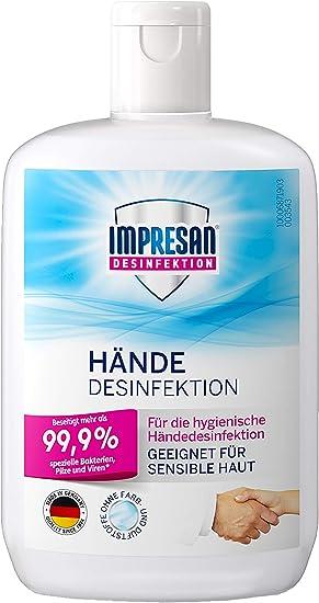 Impresan Hande Desinfektion Flussiges Desinfektionsmittel