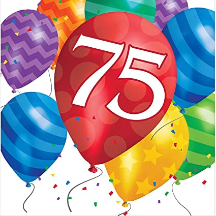 Amazon Creative Converting 75th Birthday Balloon Blast Lunch