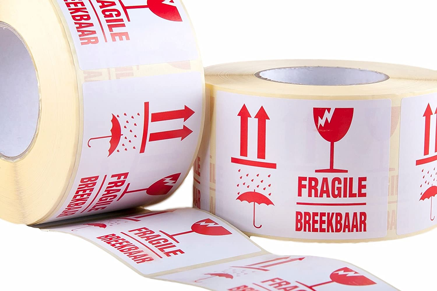 1000 x fragile breekbaar shipping self adhesive packaging stickers sticky labels large 110x80mm amazon co uk office products