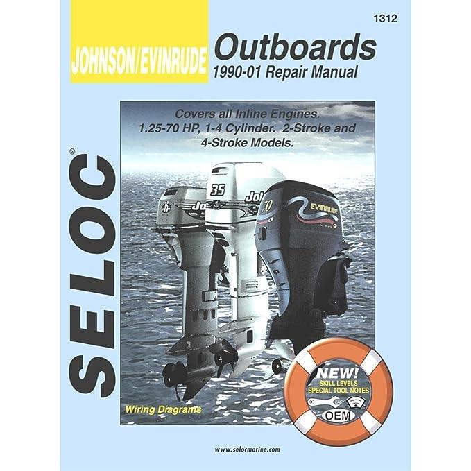 amazon com: seloc serive manual - johnson/evinrude - inline engines - 1990-2001:  sports & outdoors