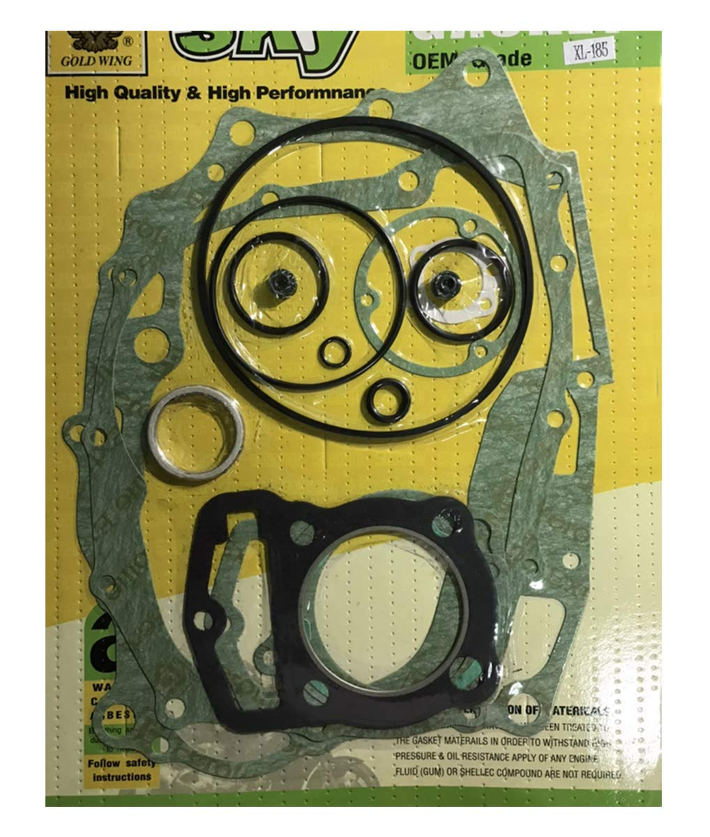 isbridge Replacement Fit For Gasket Set Completed Honda XL185 S XL185S XR185 ATC185 S ATC185S