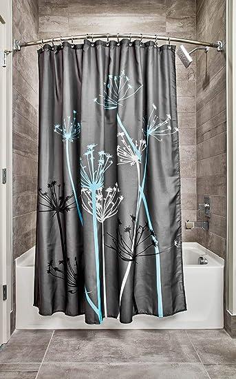 Amazoncom Interdesign Thistle Shower Curtain Standard Gray And