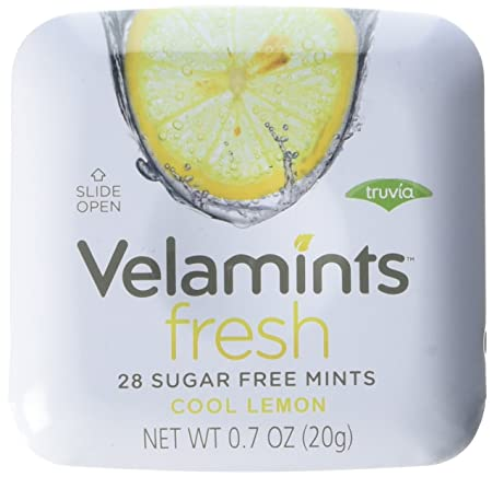 Amazon.com : Velamints Fresh Sugar Free Mints Tin, Truvia Sweetened, Peppermint 28 Count (Pack of 6) : Grocery & Gourmet Food