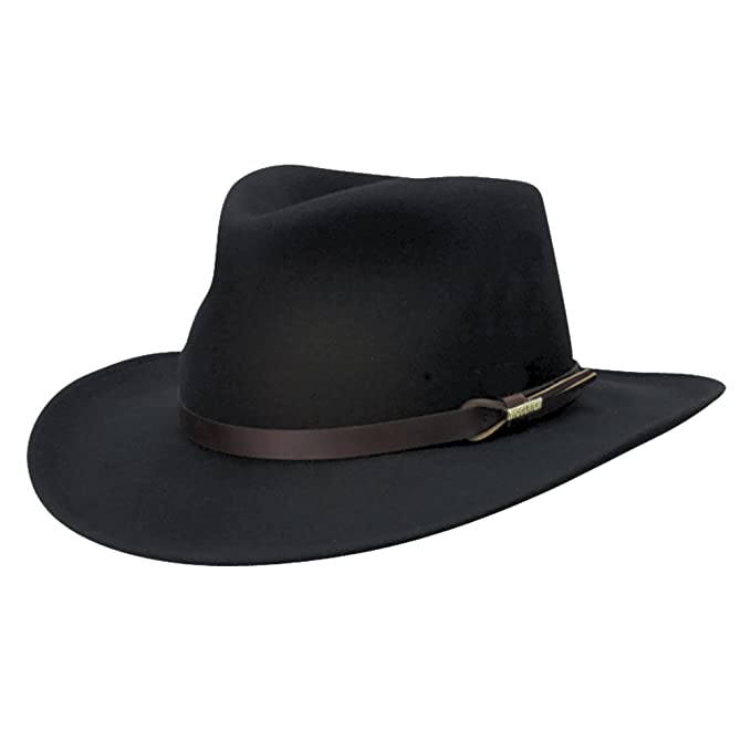 8c0b4a6ef9f69 Woolrich Men s Crushable Water Repellent Wool Felt Outback Hat at Amazon  Men s Clothing store  Cowboy Hats