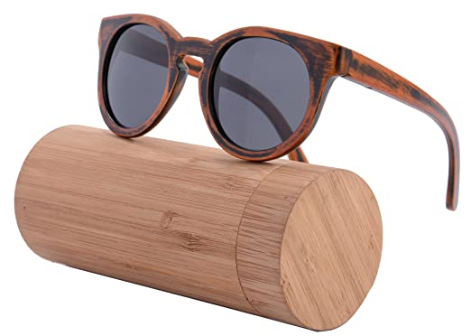 handmade wood frame sunglasses retro vintage wooden glasses polarized with bamboo case z6011bamboo