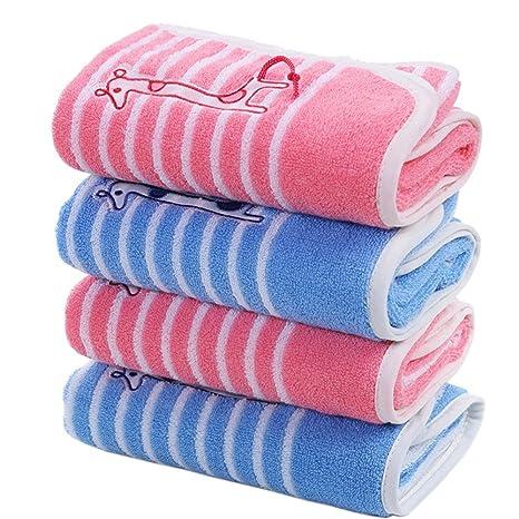 Set de 4 jirafa algodón Toallas de baño toallas manopla de familia de juego de jardín