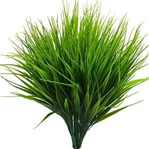 "Beebel 6Pcs 15"" Artificial Plastic Wheat Grass Faux Shrubs Simulation Greenery Plants Indoor Outside Home Garden Office Verandah Wedding Décor"