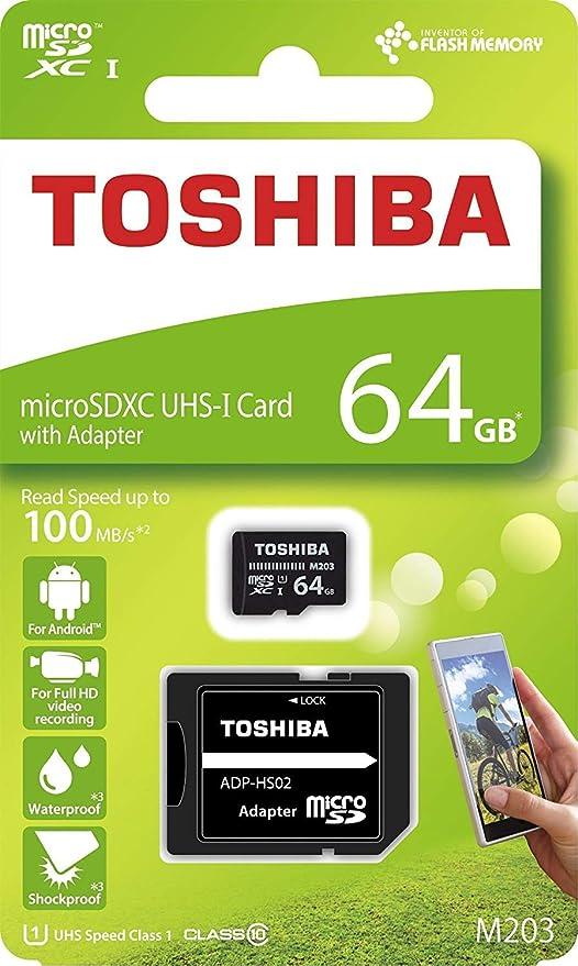 0630c8a2a Toshiba M203 64GB Class 10 MicroSDXC Memory Card with Adapter  (THN-M203K0640A2) - Buy Toshiba M203 64GB Class 10 MicroSDXC Memory Card  with Adapter ...
