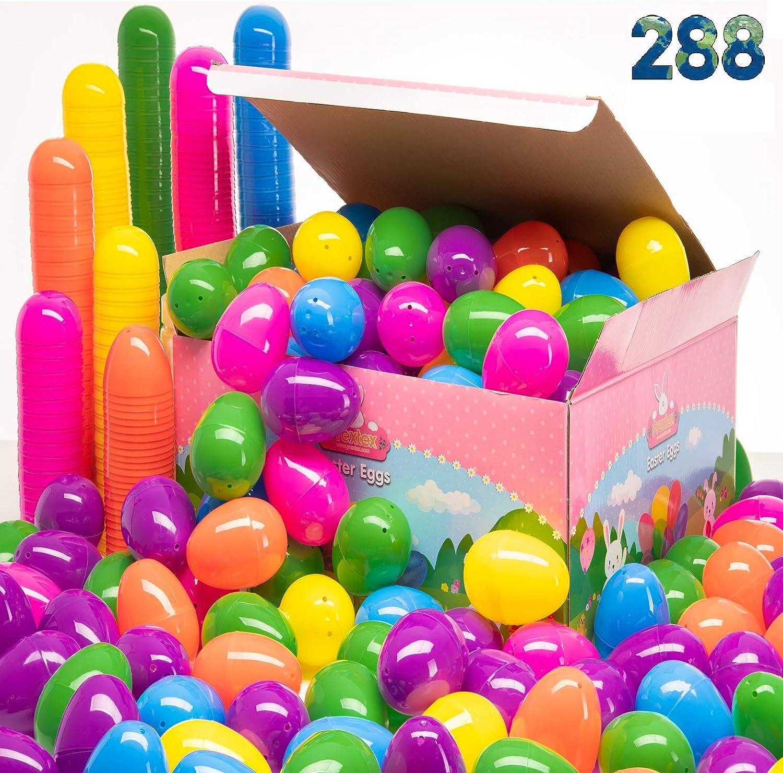 PREXTEX Surtido de Huevos de Pascua 288 uds. - Mejor Oferta 288 Huevos de Pascua en Caja de Diseño