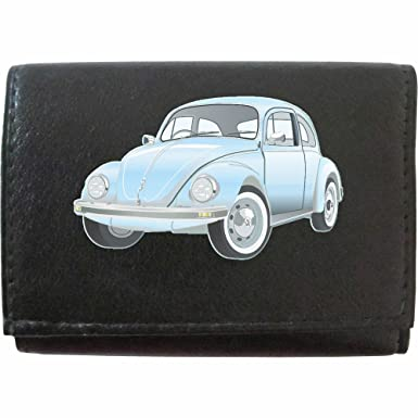 Mens Leather Wallet Dark Blue VW Beetle Accessory Klassek Key Chain Volkswagen