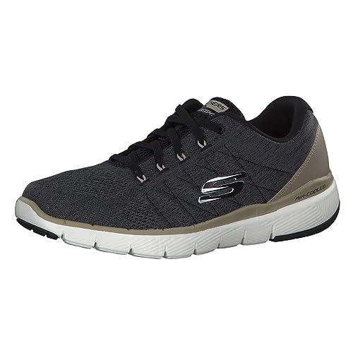 8dc4f2fce4844 Skechers Men's Trainers, Black, 14 UK: Amazon.co.uk: Shoes & Bags