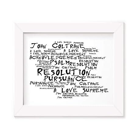 John Coltrane Poster Print Anthology Lyrics Gift Signed Art