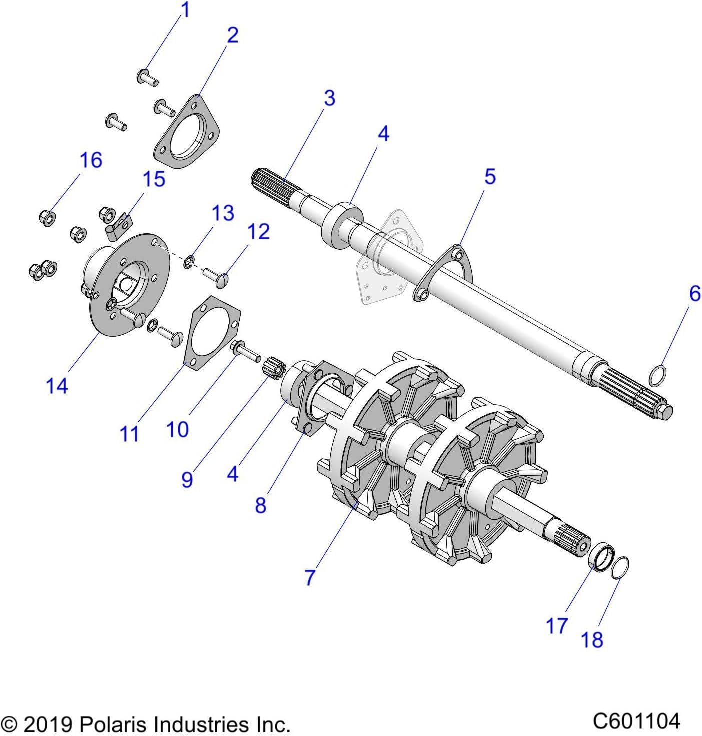 Polaris Jackshaft Bearing Qty 1 Genuine OEM Part 3514617