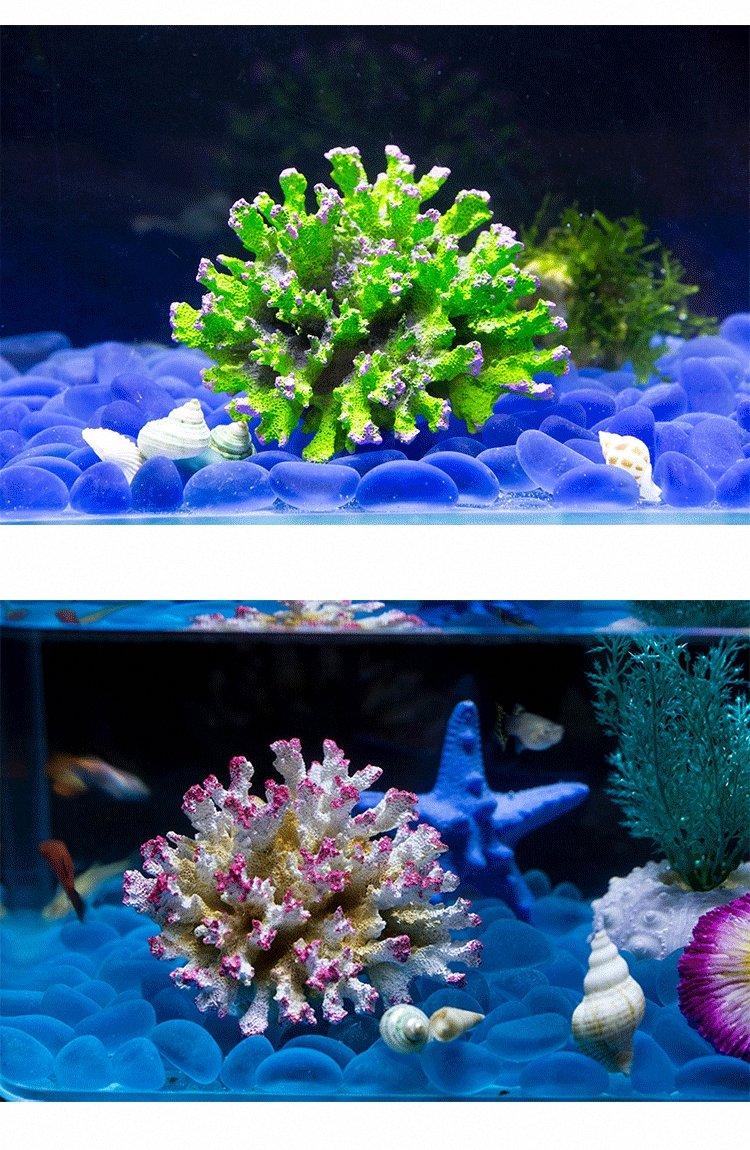 Wecail - planta de coral artificial para decoración de acuario, arte, resina, pecera, adorno de pecera: Amazon.es: Productos para mascotas