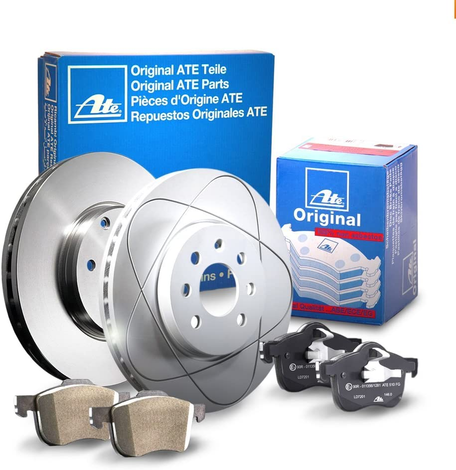 Bremsbel/äge ATE P-A-02-00056 Bremsanlage 2 Bremsscheiben /Ø269 Voll