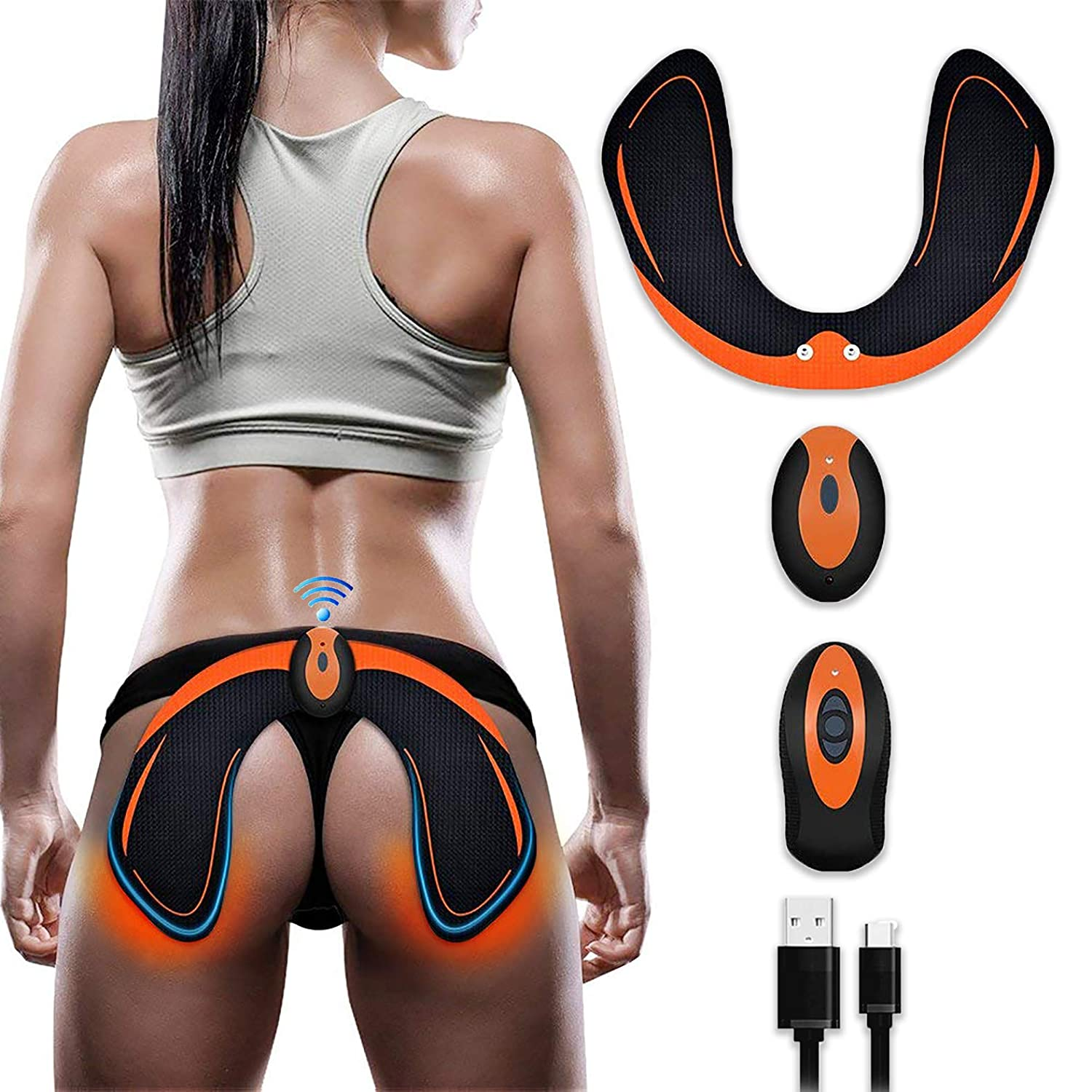BLUE LOVE ABS Stimulator EMS Hip Trainer Butt Toner with Intelligence System,Helps to Lift,Shape and Firm,Body Massager for Women Fitness