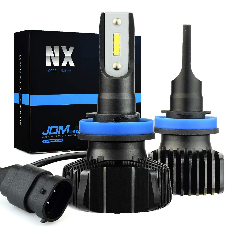 JDM ASTAR Newest Version NX 10000 Lumens Extremely Bright High Power H11 H8 H16 All-in-One Fanless Design LED Headlight Bulbs, Fog Light Bulbs,Xenon White