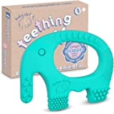 Baby Teething Toys - BPA Free Silicone Toy - Cute, Easy to Hold, Soft and Highly Effective Elephant Teether - Unique…