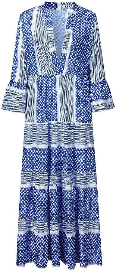 Robe longue imprimé patchwork