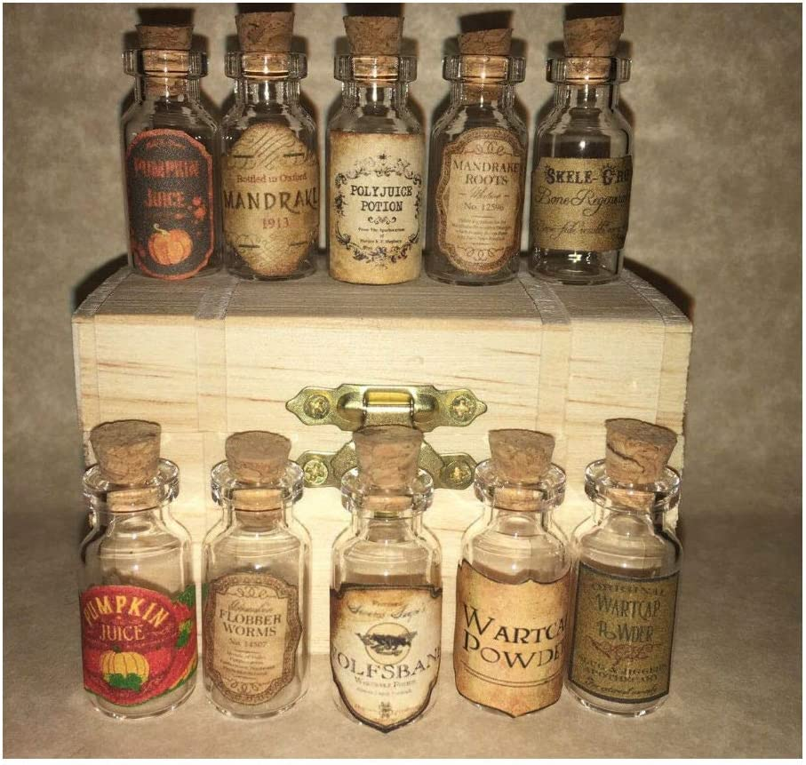 KCHEX Halloween Small Apothecary Potion Bottles Harry Potter Party Prop