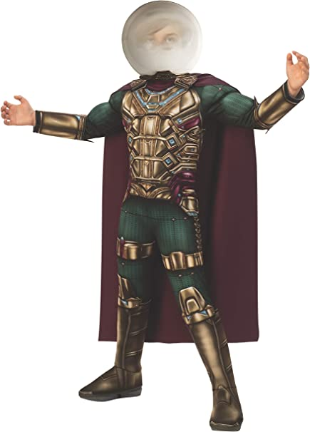 Amazon Com Rubie S Marvel Spider Man Far From Home Child S Deluxe Mysterio Costume Large Toys Games