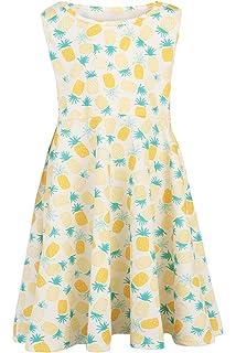 116 Bunt Mit Blumenmotiv Frühling Sommer Mädchen Mädchen Kleid Gr