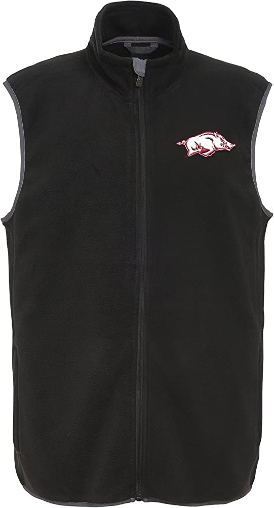 Black Medium NCAA North Carolina State Wolfpack Mens Outerstuff Scrimmage Fleece Vest