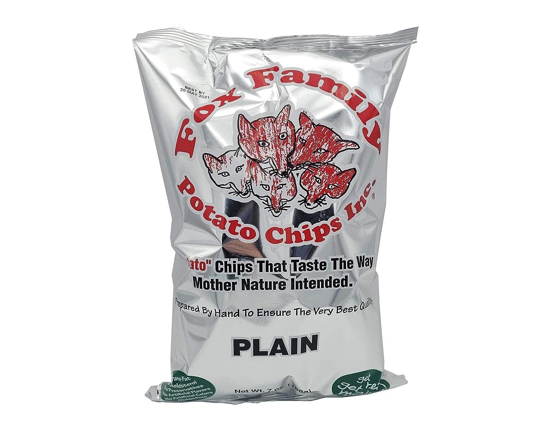 Fox Family Potato Chips, 7oz, Made in Maine - Gluten Free (Plain)