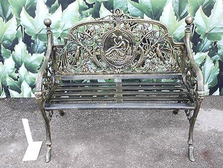 Enjoyable Black Country Metal Works Small Artemis Ornate Bench Dailytribune Chair Design For Home Dailytribuneorg