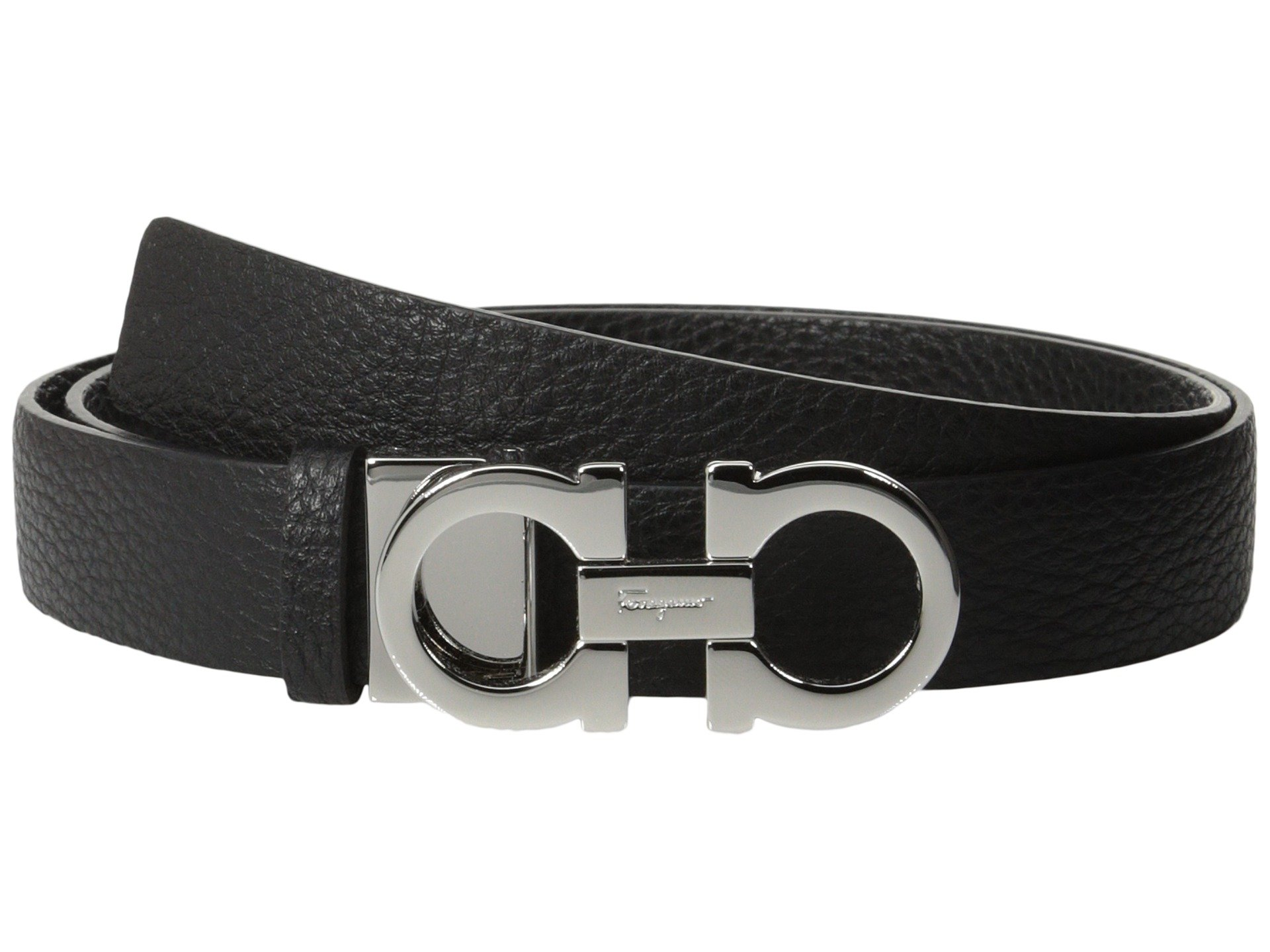 Salvatore Ferragamo Women's 237601 Double Gancini Wide Belt Nero 80 (32'' Waist) by Salvatore Ferragamo