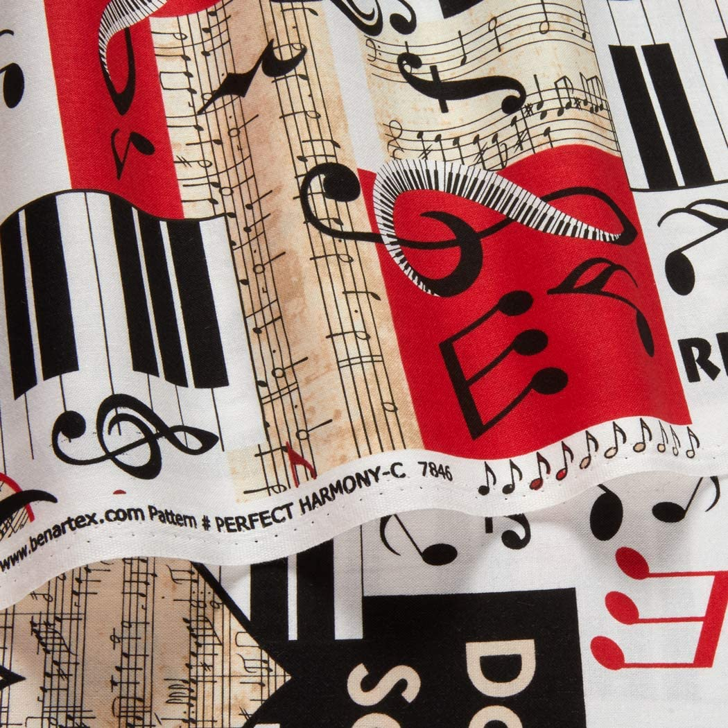New Perfect Harmony More Available Kanvas Studio BTY Musical Moments 1 yard