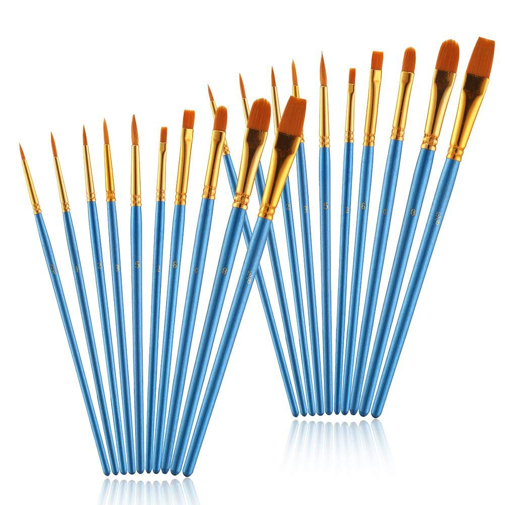 LOKIPA Paint Brushes 10pcs Professional Artist Paint Brushes Set Round Pointed Tip Nylon Hair for Watercolor Oil Acrylic Painting 4336963169