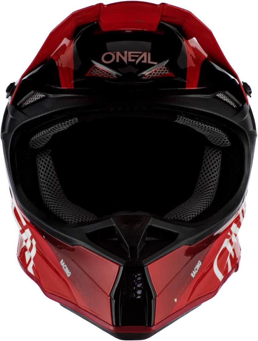 Red//Black, M ONeal 10 Series Unisex-Adult Off-Road Helmet