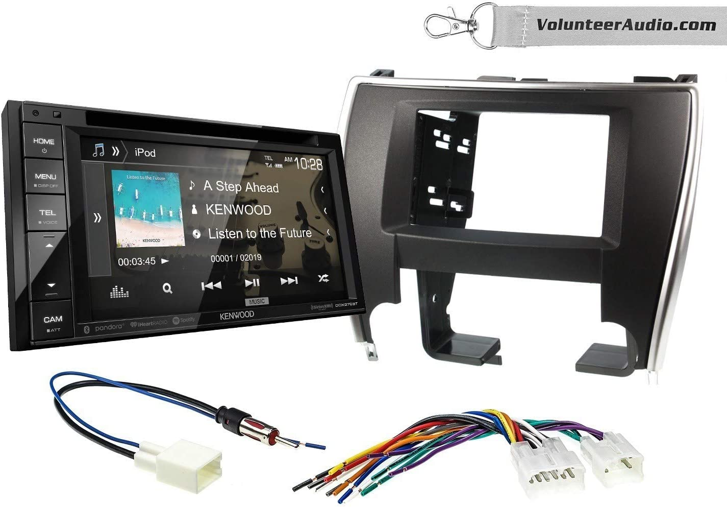 SiriusXM Fits 2015-2017 Non Amplified Toyota Camry Kenwood DDX276BT Double Din Radio Install Kit With 6.2 Touchscreen