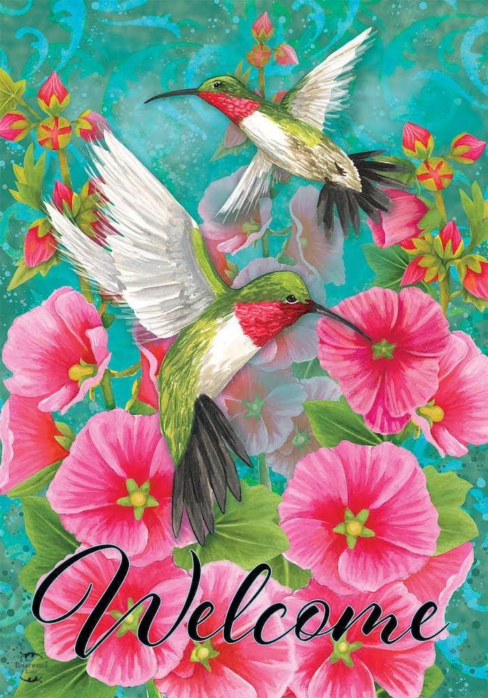 Briarwood Lane Hummingbird Dance Spring Garden Flag 12.5