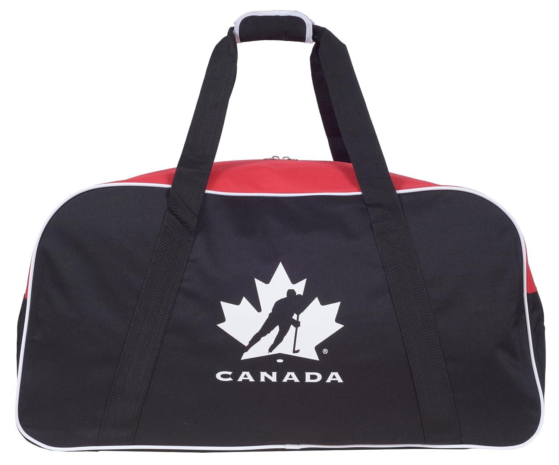 Hockey Canada Official 30 Inch Hockey Team Equipment Duffle Bag (Black, Red) G0570_HC_BKR