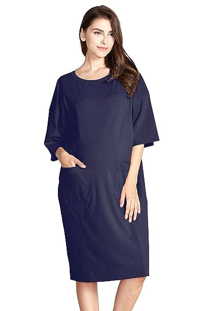 656f370278d Sweet Mommy Maternity and Nursing Oversized Jumper Shirt Dress NVF Navi