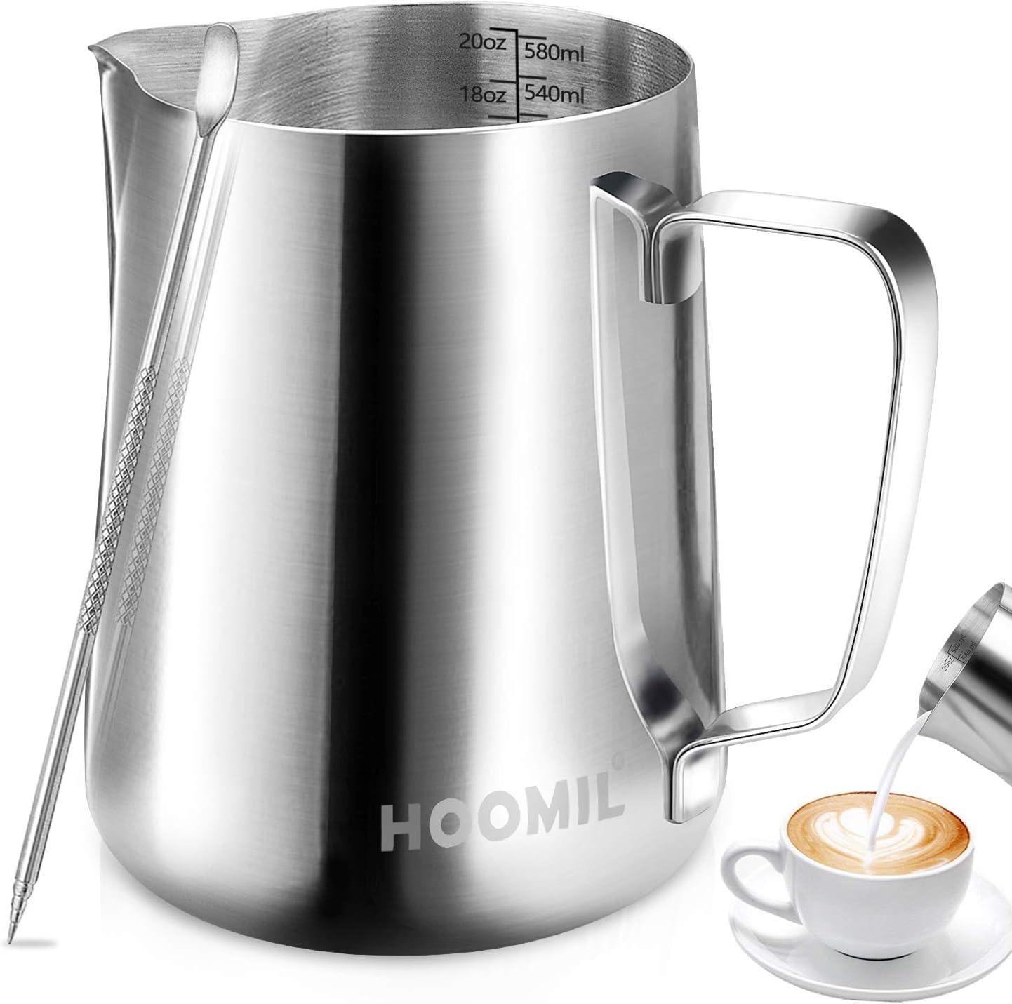 HOOMIL Jarra para Leche para Espumar de Acero Inoxidable para Café ...