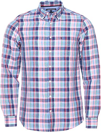 Tommy Hilfiger - Camisa Casual - Cuadros - Manga Larga - para Hombre Regatta S: Amazon.es: Ropa y accesorios