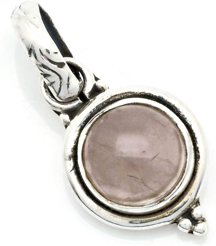 Colgante de plata 925 con cuarzo rosa 11 mm24 mm (No: MAH 143)