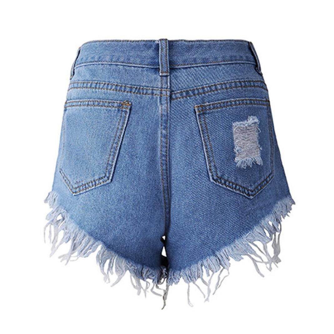 YunYoud Damen Hose, Frau Sexy Jeans Frauen Quaste Loch Shorts Jeans ...