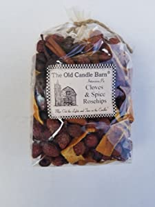 Old Candle Barn Cloves & Spice Rosehips - Well Scented Potpourri - Made in USA - Perfect Bowl Filler or Home Decoration