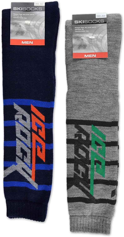 sockenkauf24 4 Paar Herren Ski Kniestr/ümpfe ICE ROCK Ski Socken