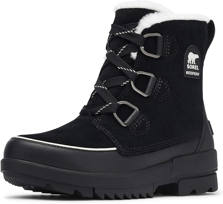 Tivoli Laceup Boots, Black