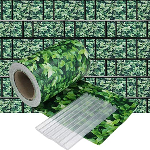 HENGMEI 35m x 19cm PVC Valla Tiras de Protectora de privacidad Pantalla Proteción visual jardín terraza, Boj: Amazon.es: Jardín