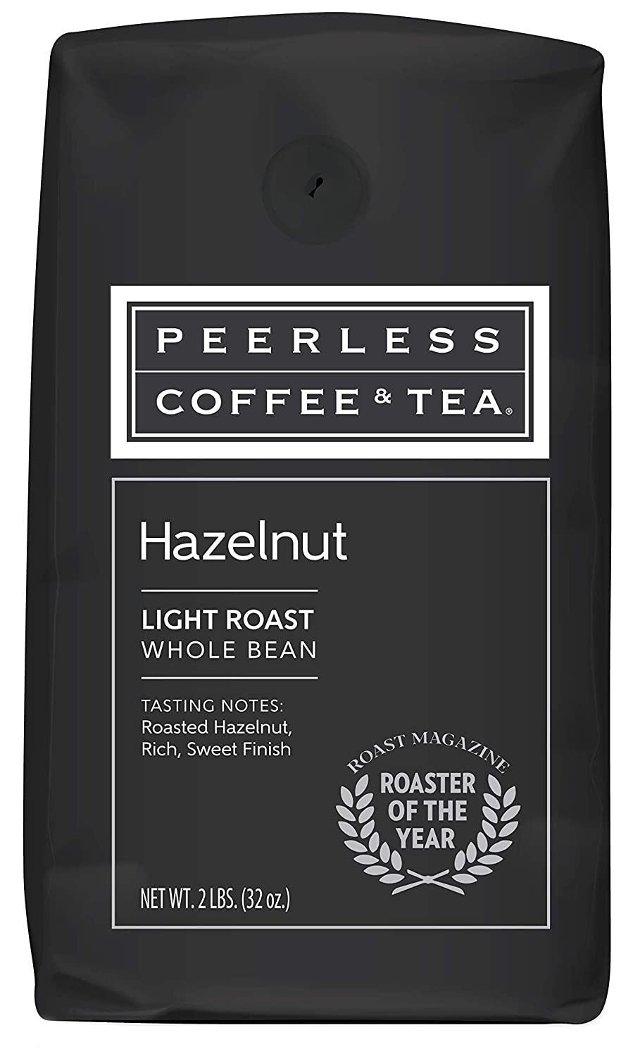 32oz Hazelnut, Whole Bean Coffee, Medium Roast, by Peerless Coffee & Tea